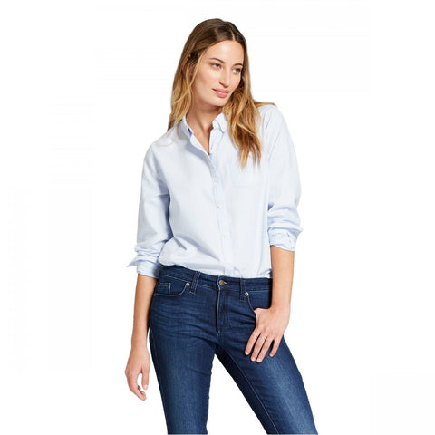 Universal Thread Women's Long Sleeve Camden Button-Down Shirt