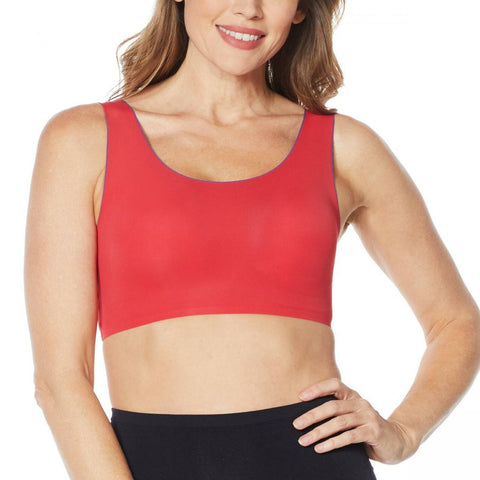 Rhonda Shear Women's Invisible Body Leisure Bra With Contrast Trim