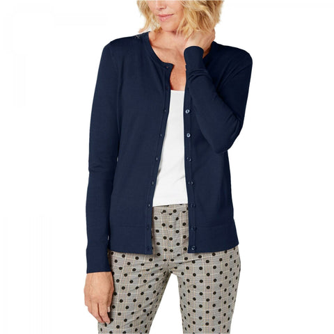 Charter Club Women's Long Sleeve Button Front Cardigan. 100043652MS