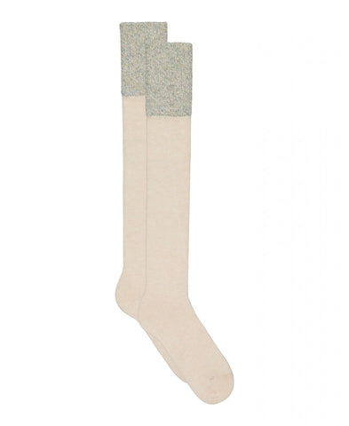 Lemon Cashmere and Tweed Knee Socks. L-6221