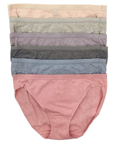 Felina Women's 6 Pack Organic Cotton Stretch Bikini Panties