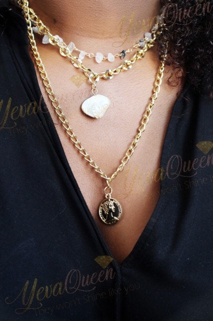 Gold plated necklace Yevaqueen