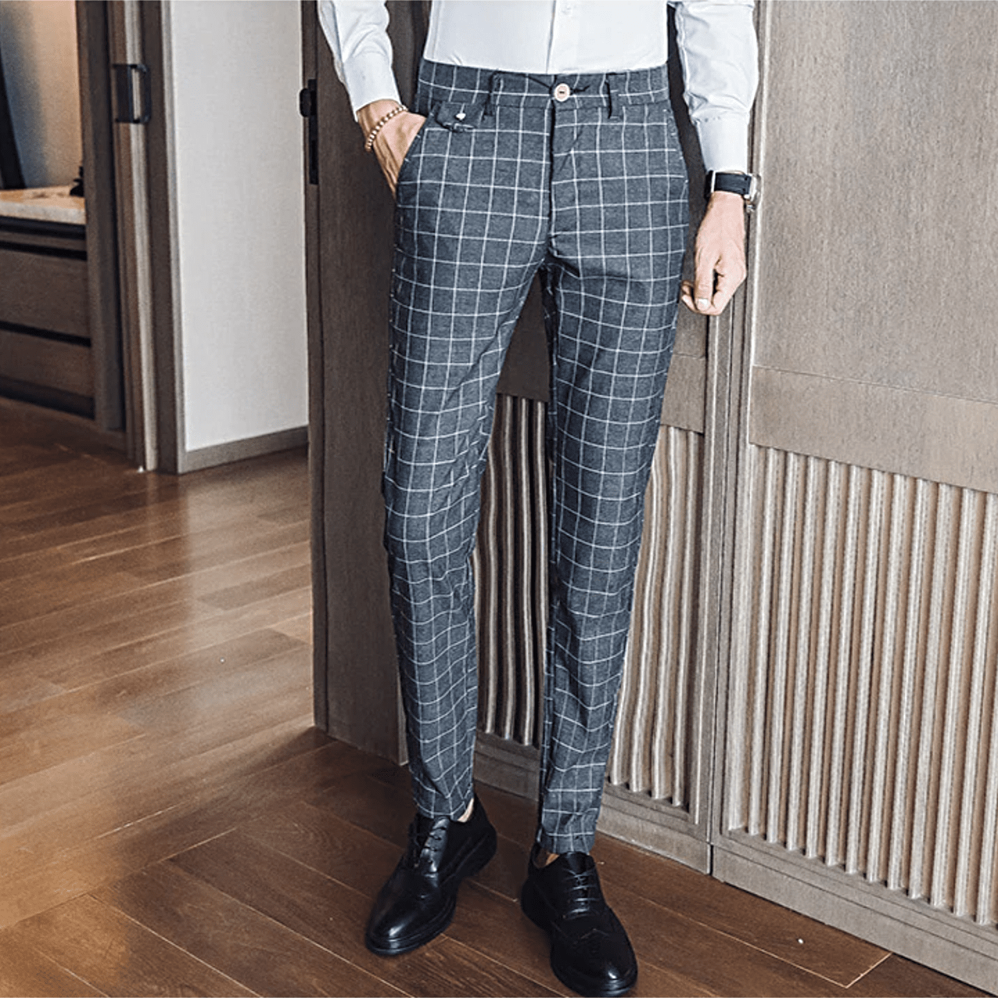 Adrian Plaid Pants - Topmanco