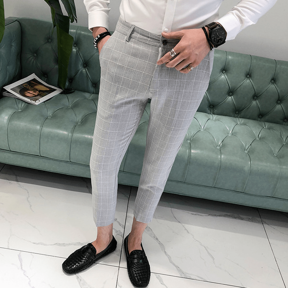 Slim Fit Gray Pants