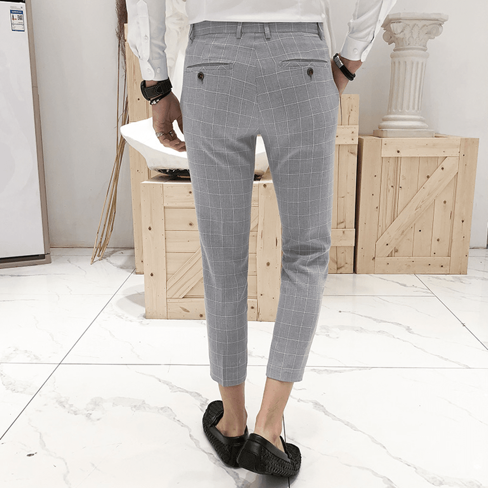 Slim Fit Gray Pants - Topmanco