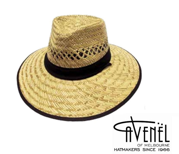 Avenel Black Trim Harvester Hat