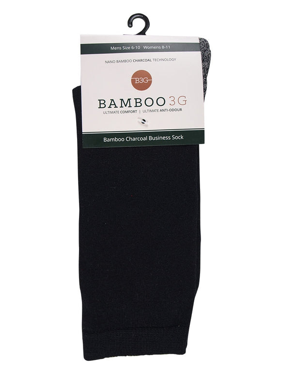 Bamboo 3G Charcoal Business Socks