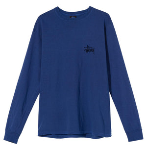 Stussy Peace Pot Pig. Dyed Ls Tee Dark Blue