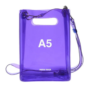 PVC A5 BAG PURPLE