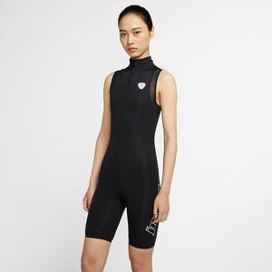 W J Moto Short Bodysuit Black