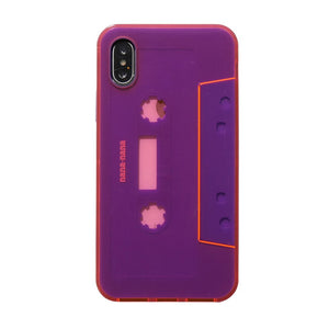 Not a Cassette Tape Neon Pink x Purple iPhone XS
