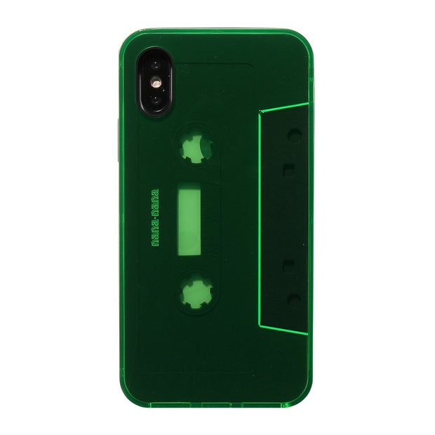 Not a Cassete Tape Neon Green x Black iPhone XS