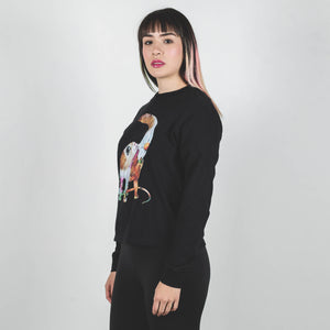 Undercover Black Optical Dinosaur Long Sleeve Shirt