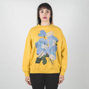 Undercover Yellow Rose and Blades Print Sweatshirt