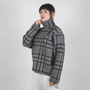 Undercover Grey Check Knitted Top