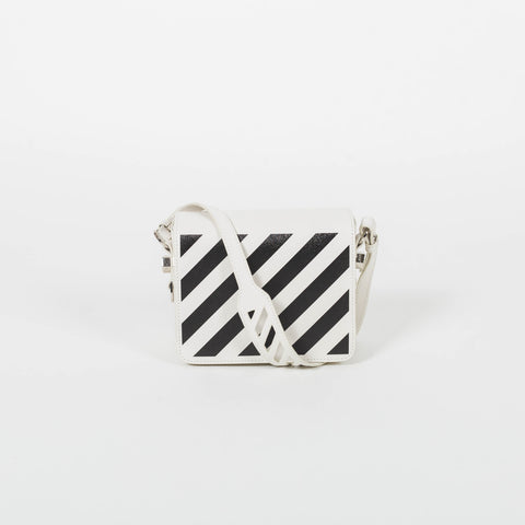 Off-White Diag Flap White Black