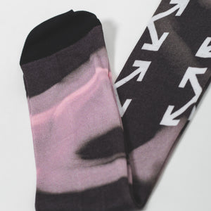 Off-White Arrow Liquid Melt Long Socks Nude White