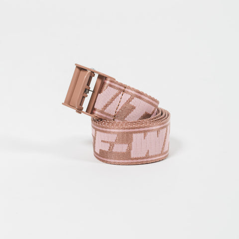 Off-White New Logo Classic Industr Belt Pink Nude