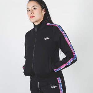 Off-White Athleisure Track Jacket Black Multicolor