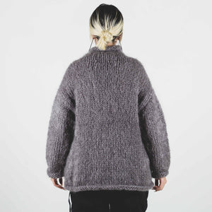 Undercover Gray Knit Turtleneck Sweater