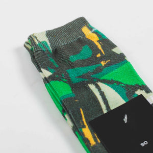 Stussy Block Print Socks Green