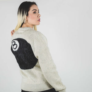 Stussy 8 Ball Hvy Brushed Mohair Sweater Cream