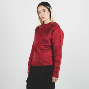 Stussy 8 Ball Hvy Brushed Mohair Sweater Red