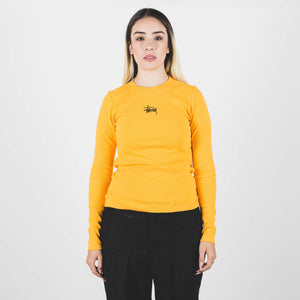 Stussy Baby Rib Ls Tee Orange