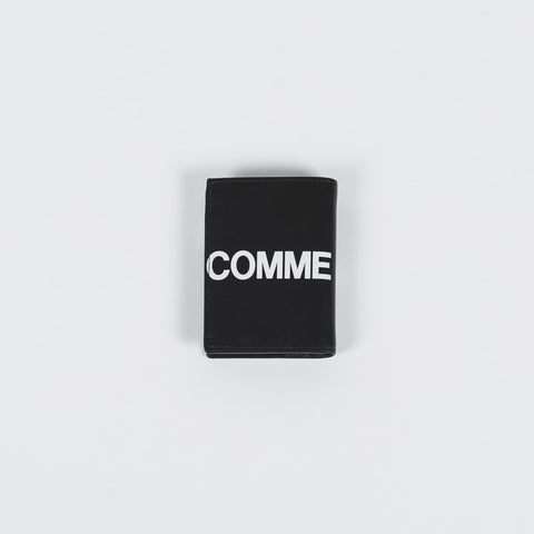 CDG Huge Logo Black Big Card Holder
