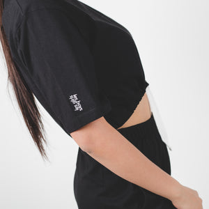 Jersey Apparel Crop Top Black