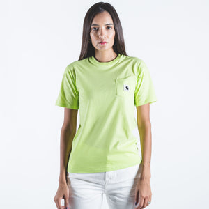 W' S/S Carrie Pocket T-shirts Lime