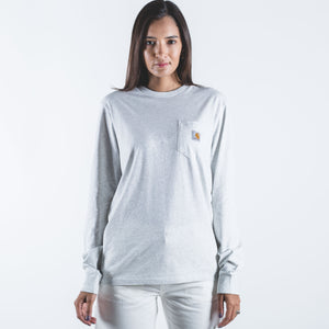 L/S Pocket T-Shirt Ash Heather