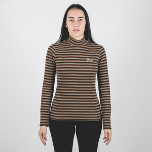 Stussy Toro Stripe Turtleneck Brown