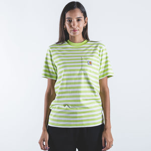 S/S Scotty Pocket Stripe T-Shirt Lime