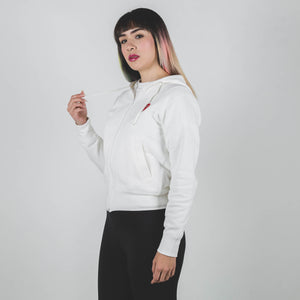 CDG PLAY Double Red Heart White Zip up Hoodie M
