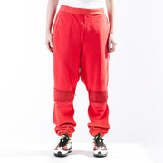 Woven Pant Bleach Patchwork Pants Orange