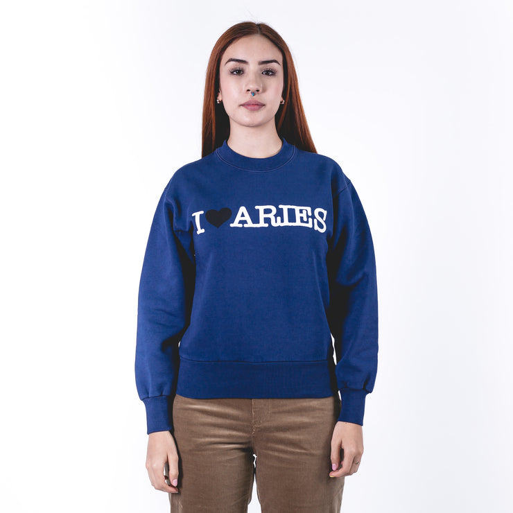 I Heart Aries Sweat Pale Blue
