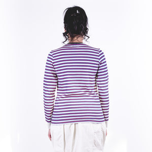 Printed Striple Ls Tee Off White