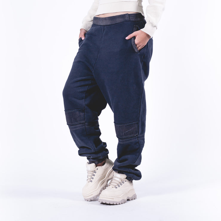 Woven Pant Bleach Patchwork Pants Black
