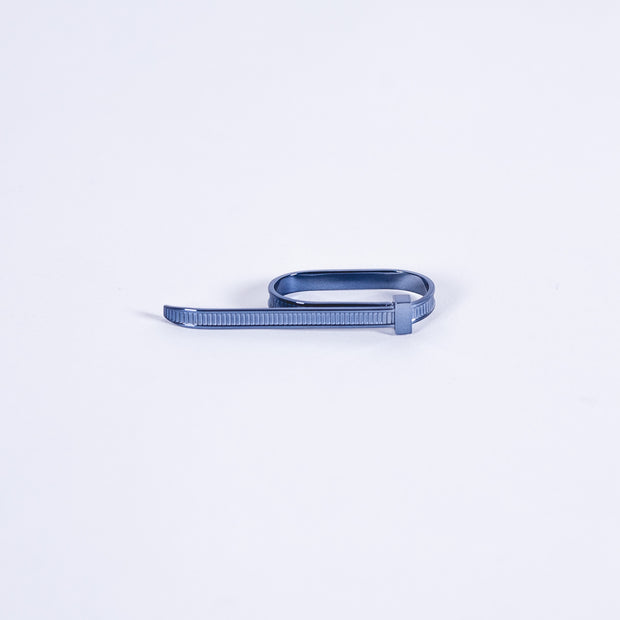 Zip Tie 2 Finger Ring Blue