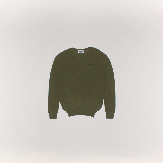 Ambush Knitted Shirt Waffle Crew Neck Green