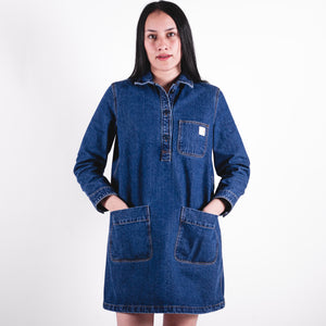 APC x Carhartt Robe Aurelia Blue Denim Dress