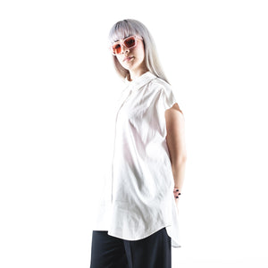 Oversized Cotton-poplin Shirt White