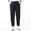 Pleated Tapered-Leg Trousers Black