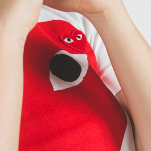 CDG PLAY Red Big Heart White T-shirt