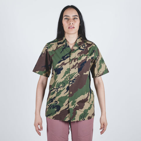 Camo Camp Collar Shirt Woodland