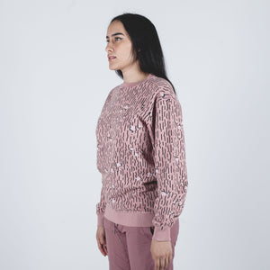 Camo Hemp Organic Crew Sweat Pink