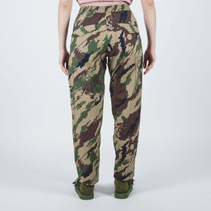 Camo Loose Woven Trackpants Woodland