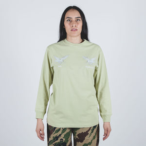 Drone Eagle Organic Long Sleeve T-shirt Aurora Olive