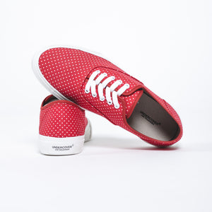 Undercover Polka Dot Printed Red Sneakers